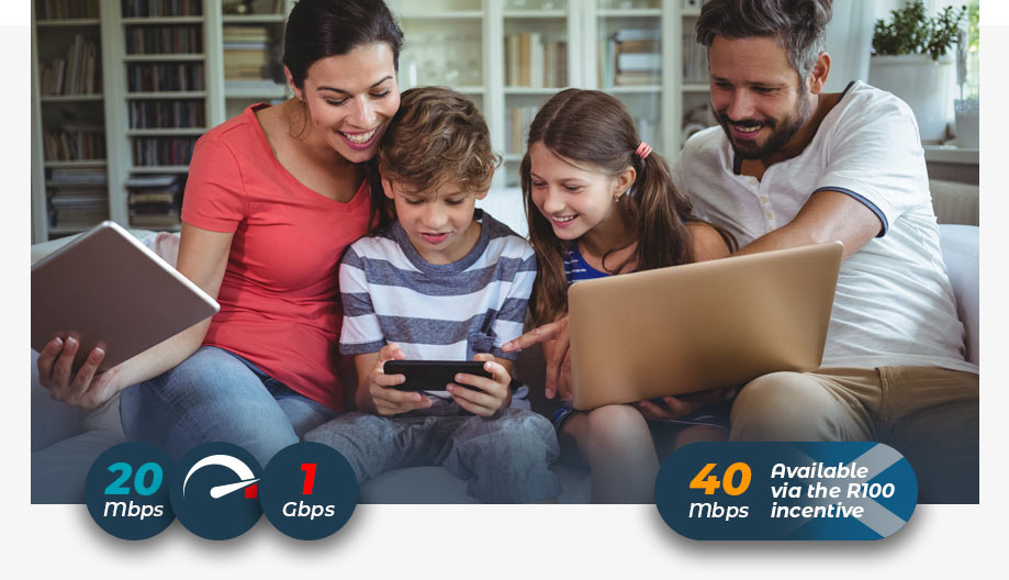 Broadband at home for all the family
