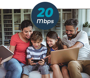 20Mbps Packages Suitable for Homes and Small Businesses