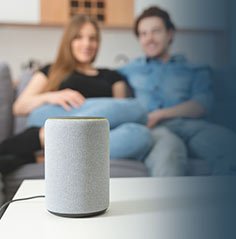 Smart Speaker with highest quality of sound because of high-speed broadband